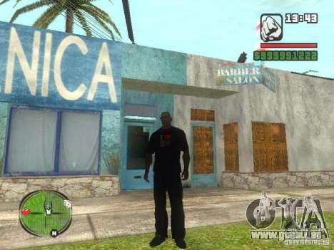 I Love My T-shirt (IV) für GTA San Andreas zweiten Screenshot