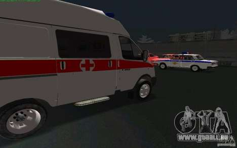 Gazelle 22172 Krankenwagen für GTA San Andreas linke Ansicht
