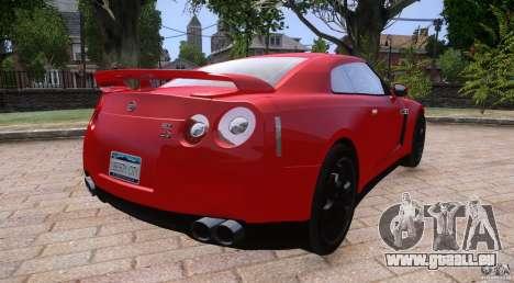 Nissan GTR R35 v1.0 pour GTA 4 est une gauche