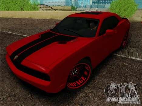 Dodge Quinton Rampage Jackson Challenger SRT8 v1 pour GTA San Andreas vue de droite
