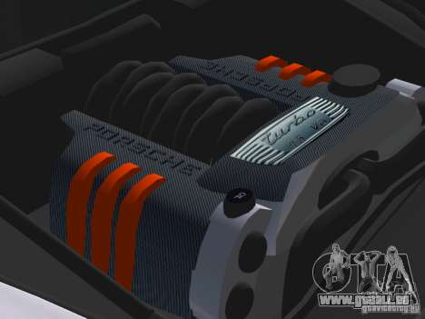 Porsche Cayenne Turbo S pour une vue GTA Vice City d'en haut