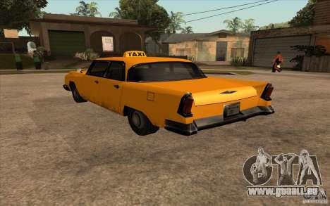 Oceanic Cab pour GTA San Andreas laissé vue