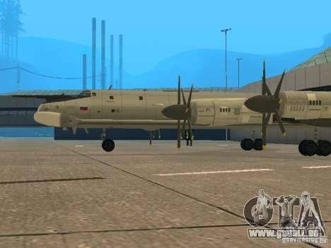 Tu-95 pour GTA San Andreas vue de droite