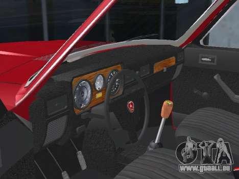 GAZ 24-12 v 2. pour GTA San Andreas vue intérieure