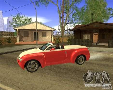 Chevrolet SSR pour GTA San Andreas laissé vue