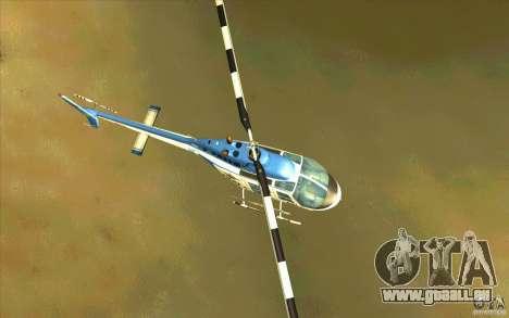 Bell 206 B Police texture1 für GTA San Andreas Innenansicht
