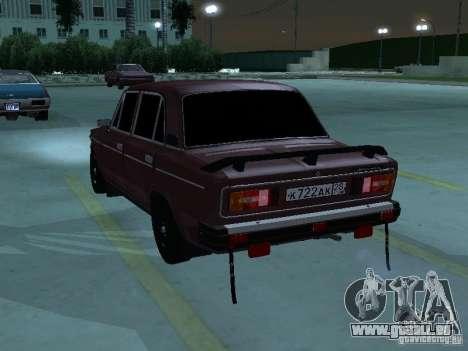 VAZ 2106 pour GTA San Andreas vue intérieure