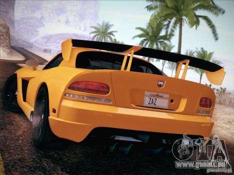 Dodge Viper SRT-10 ACR pour GTA San Andreas laissé vue