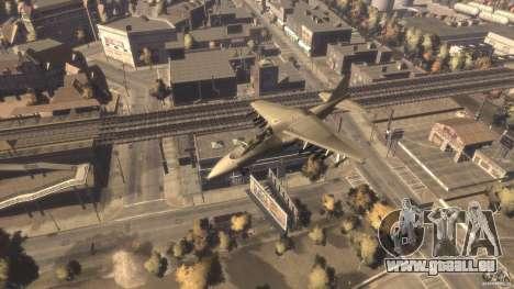 Liberty City Air Force Jet (mit Getriebe) für GTA 4 rechte Ansicht