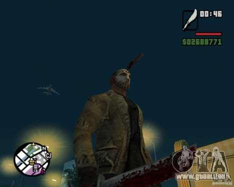 Jason Voorhees pour GTA San Andreas quatrième écran