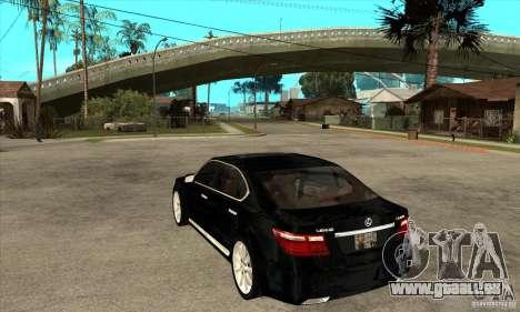 Lexus LS460L 2010 für GTA San Andreas zurück linke Ansicht