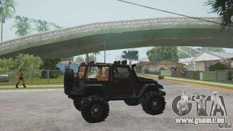 Jeep Wrangler Off road v2 pour GTA San Andreas laissé vue
