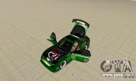 Mazda RX-7 ings pour GTA San Andreas vue de droite