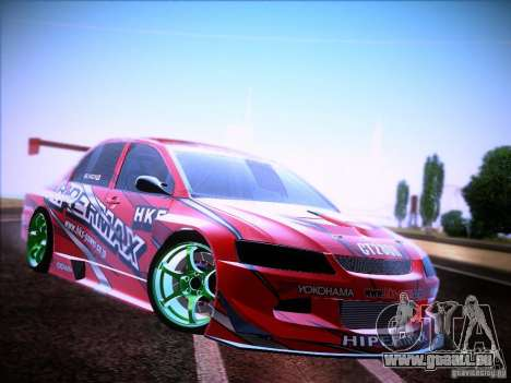 Mitsubishi Lancer Evolution 9 Hypermax für GTA San Andreas rechten Ansicht