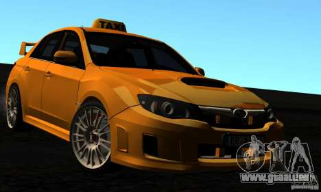 Subaru Impreza WRX STi 2011 TAXI für GTA San Andreas Innen