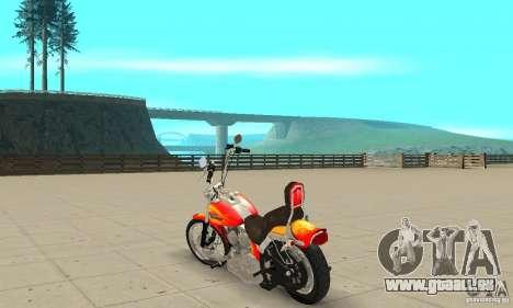 Harley Davidson softail Skin 2 pour GTA San Andreas sur la vue arrière gauche