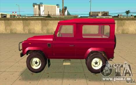 Land Rover Defender 90SW für GTA San Andreas linke Ansicht