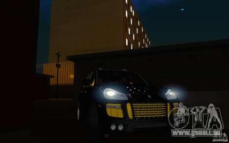 Porsche Cayenne gold für GTA San Andreas Rückansicht