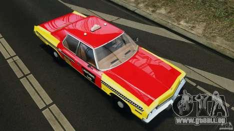 Dodge Monaco 1974 Taxi v1.0 pour GTA 4 Salon