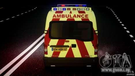 Renault Master 2007 Ambulance Scottish [ELS] pour le moteur de GTA 4
