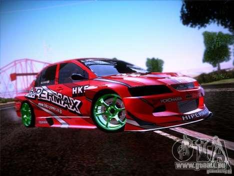 Mitsubishi Lancer Evolution 9 Hypermax für GTA San Andreas Seitenansicht