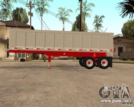 Artict3 Dump Trailer für GTA San Andreas linke Ansicht