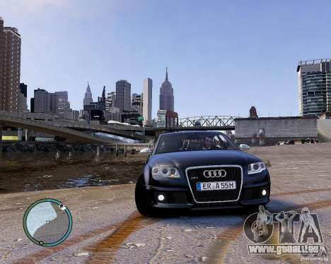 Audi RS4 für GTA 4 Rückansicht