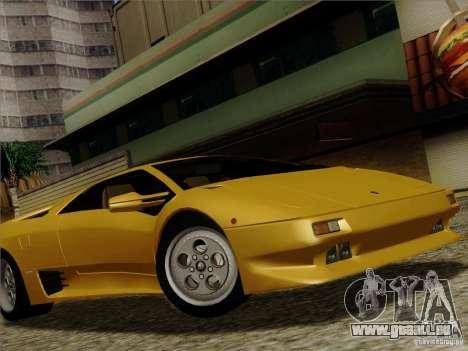 Lamborghini Diablo VT 1995 V3.0 für GTA San Andreas obere Ansicht