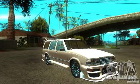 Volvo 945 Wentworth R with bodykit (1.2) pour GTA San Andreas vue arrière