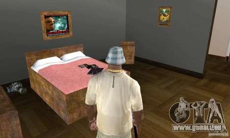 Maisons neuves à coffre intérieurs pour GTA San Andreas sixième écran