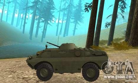 BRDM-2 Edition Standard pour GTA San Andreas sur la vue arrière gauche