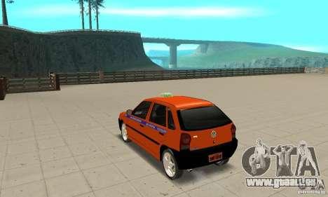 Volkswagen Gol G4 Taxi für GTA San Andreas zurück linke Ansicht