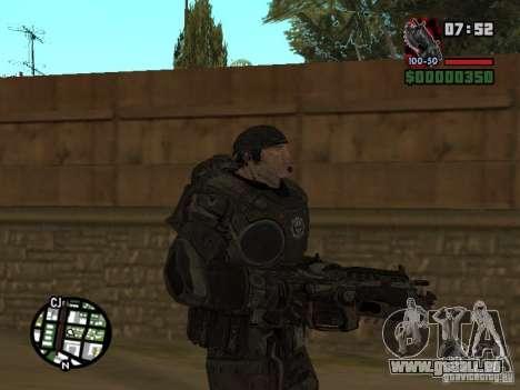 Marcus Fenix de Gears of War 2 pour GTA San Andreas deuxième écran