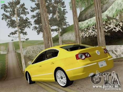 Volkswagen Magotan 2011 für GTA San Andreas Unteransicht