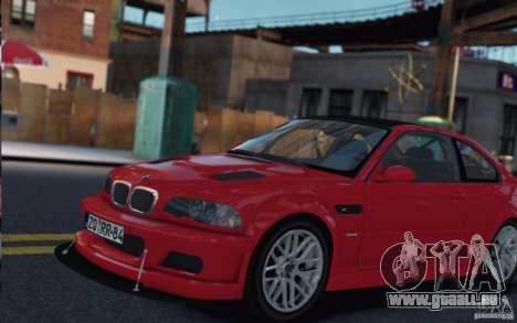 BMW M3 Street Version e46 pour GTA 4 est une gauche