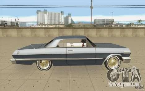 Voodoo pour GTA San Andreas vue intérieure