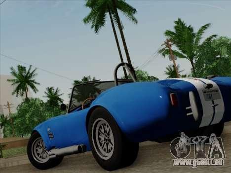 Shelby Cobra 427 für GTA San Andreas obere Ansicht