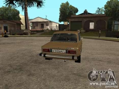 VAZ 21063 für GTA San Andreas zurück linke Ansicht
