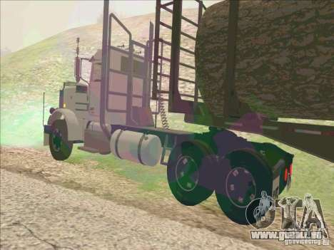 Peterbilt 379 pour GTA San Andreas sur la vue arrière gauche