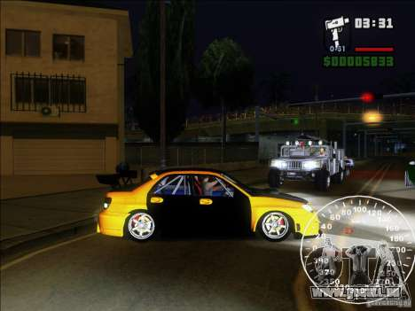 Subaru Impreza WRX Sti 2006 Elemental Attack für GTA San Andreas linke Ansicht