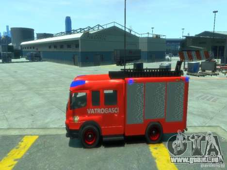 Mercedes-Benz Atego Fire Departament für GTA 4 linke Ansicht