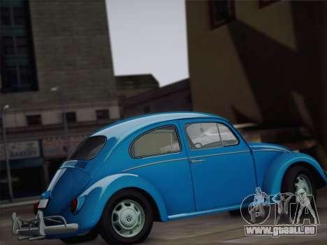 Volkswagen Beetle 1967 V.1 für GTA San Andreas Innenansicht