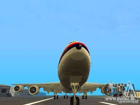 Boeing 747-100 Japan Airlines für GTA San Andreas Rückansicht