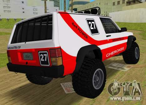 Jeep Cherokee 1984 Sandking für GTA Vice City linke Ansicht
