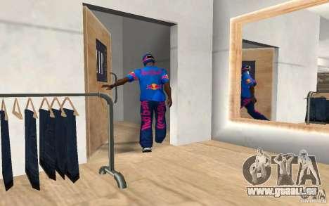 Red Bull Clothes v2.0 für GTA San Andreas dritten Screenshot