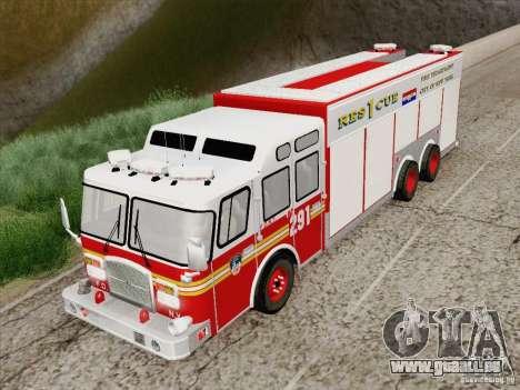 E-One F.D.N.Y Fire Rescue 1 für GTA San Andreas Rückansicht