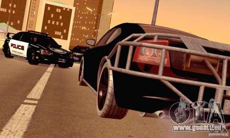 Dodge Charger Fast Five für GTA San Andreas Seitenansicht
