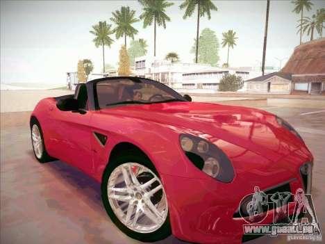 Alfa Romeo 8C Spider pour GTA San Andreas vue de droite