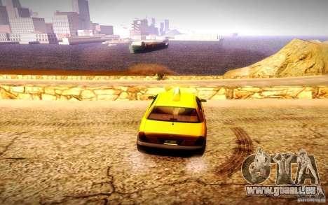 Ford Crown Victoria TAXI 2003 pour GTA San Andreas sur la vue arrière gauche