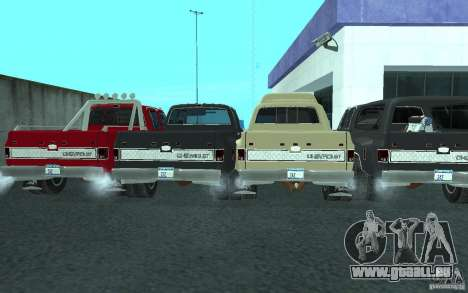 Chevrolet Silverado 3500 für GTA San Andreas Unteransicht